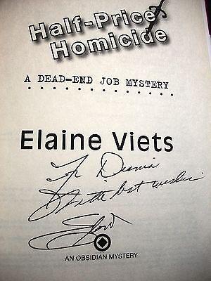 Elaine Viets Half Price Homicide Signed 2010 Hardcover Dj 1St Ediiton