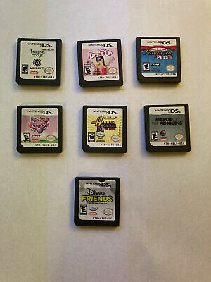 Lot of 7 DS Games for girls - Disney - Babyz - Dress up - Pinkie - Penguins -