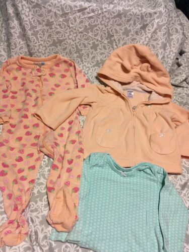 Baby Clothes- Lot 69-childrens Place Sleeper & Carters Jacket /one Pc- 12 Months