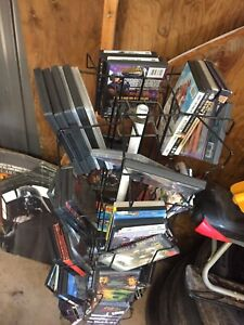 DVDs and rotating rack $35