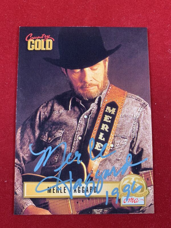 MERLE HAGGARD Signed Autographed 1993 Country Gold Card #59