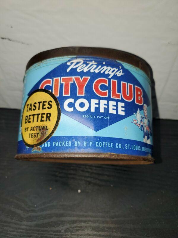 Vintage City Club Coffee Can