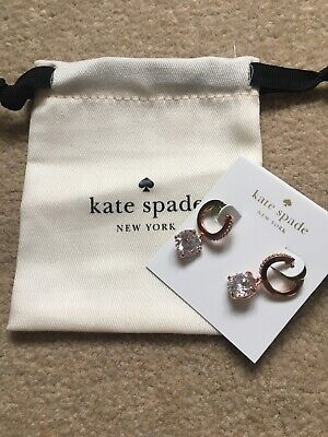 Kate Spade Gem Rose Gold Earrings New