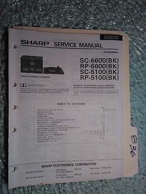 Sharp SC RP 6600 5100 service manual original repair book stereo radio turntable
