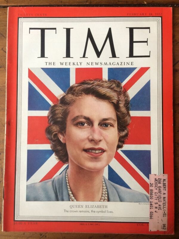 1952 Queen Elizabeth Time Magazine
