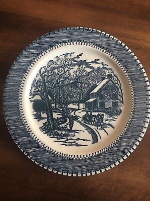 """Currier Ives By Knowles Country Life Dinner Plate 10"""""""