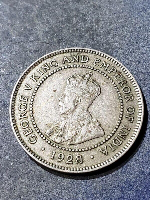 1928 JAMAICA ONE PENNY COIN
