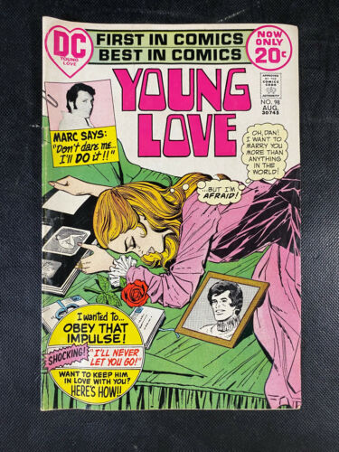 YOUNG LOVE # 98 DC Romance Classic 1972