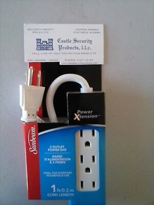 - 3 OUTLET GROUNDED POWER STRIP 3 PLUG GROUNDED 1' POWER CORD