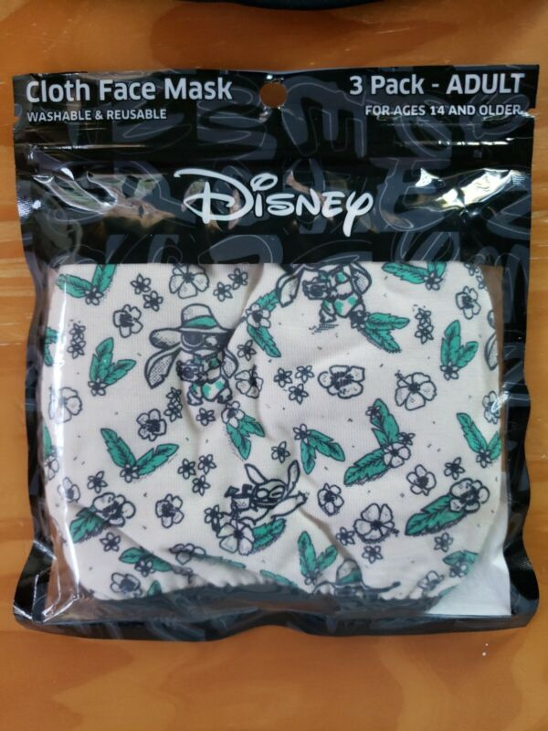 Lilo & Stitch  Disney 3pack Adult Reusable Cloth Face Masks