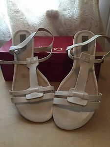 White Diana Ferrari sandals - size 11 Tarragindi Brisbane South West Preview