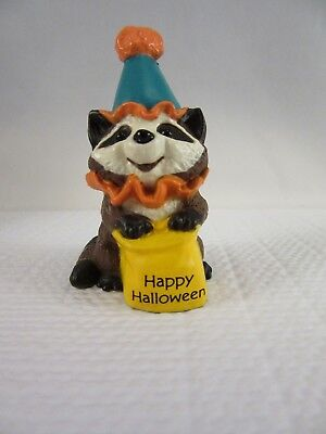 Hallmark HALLOWEEN Merry Miniature (1989) - Happy Halloween Raccoon Clown