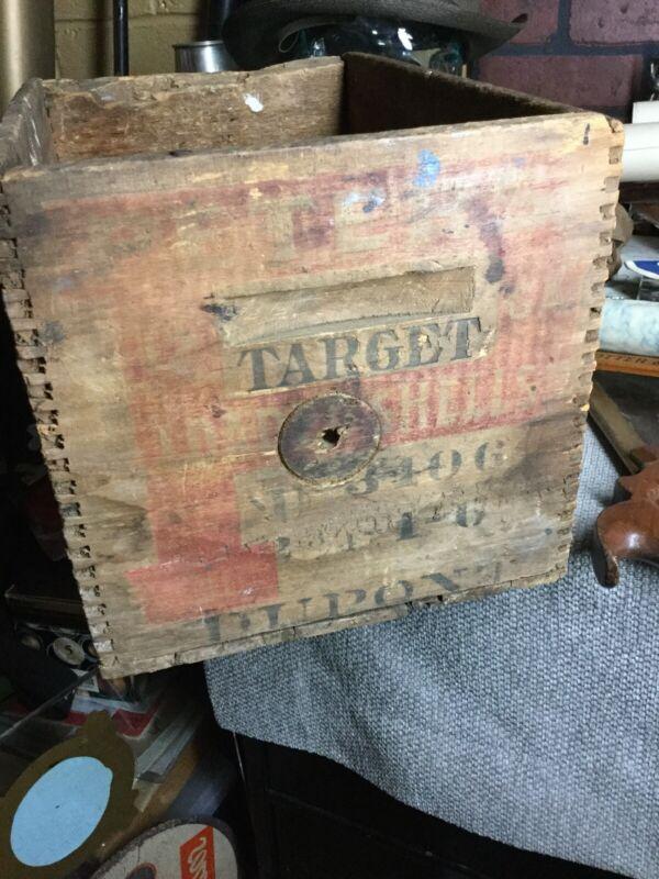 Vintage Peters Cartridges Ammo Box 12 Gauge Target Shells Cincinnati Ohio