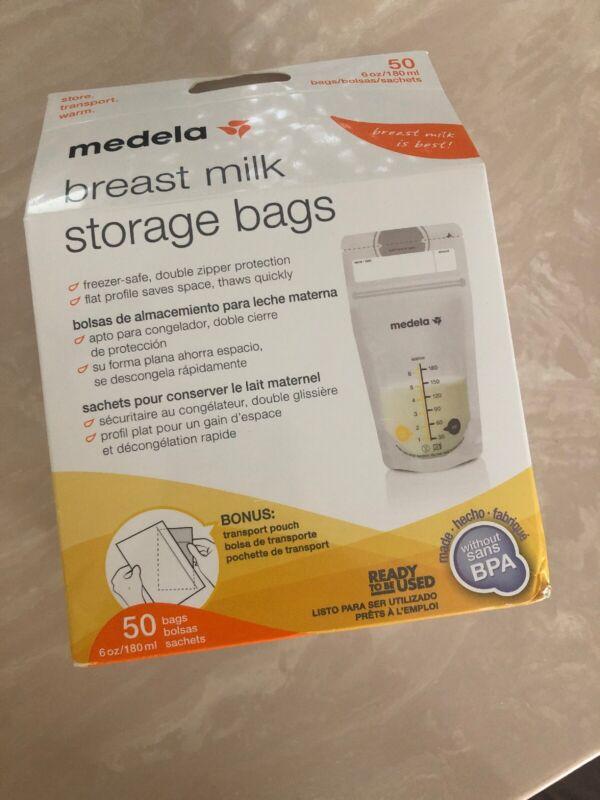 Medela Breast Milk Storage Bags - 50 Count - Store & Transport Freeze Ships Free