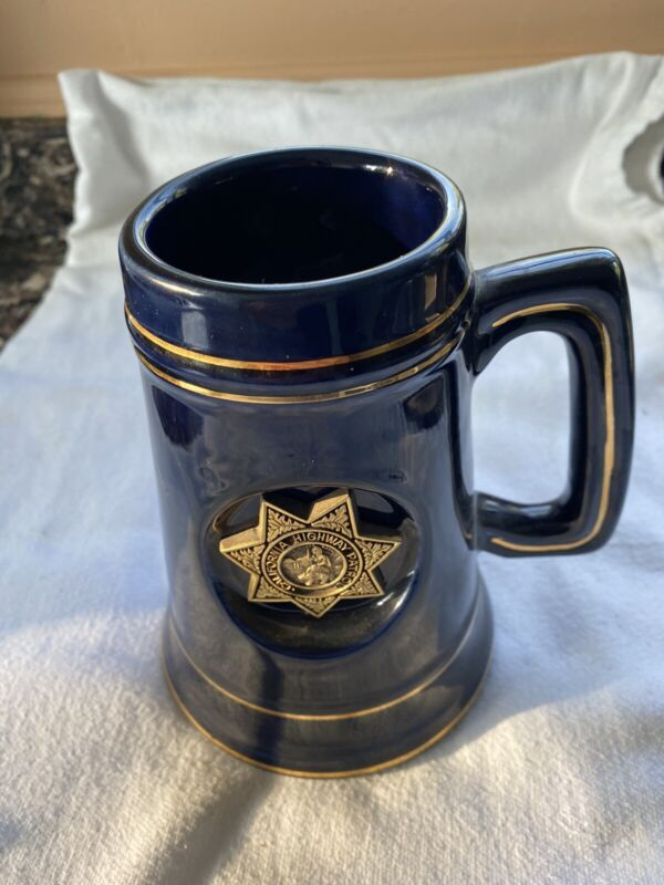 Vintage Commemortive California Highway Patrol Mug.  CHP