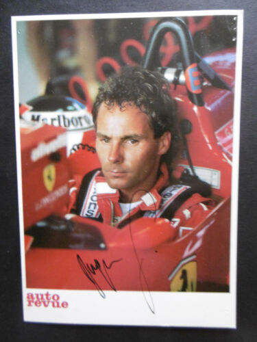 """Gerhar Berger """"Ferrari"""" Autogramm signed 10x15 cm Postkarte"""