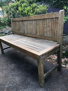 Outdoor bench chair ( teak hard wood) North Willoughby Willoughby Area Preview