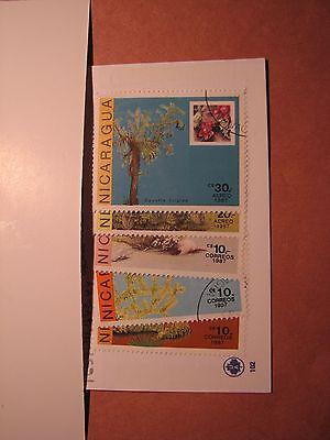 Nicaragua Stamp Scott# 1639-41,1643-44 Catti 1986 P10