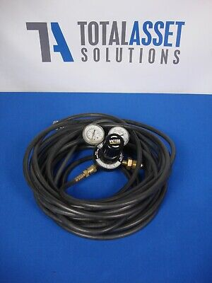 Victor G Series Heavy Duty Inert Gas Regulator G350-150-580 With 50 Hose Gauge
