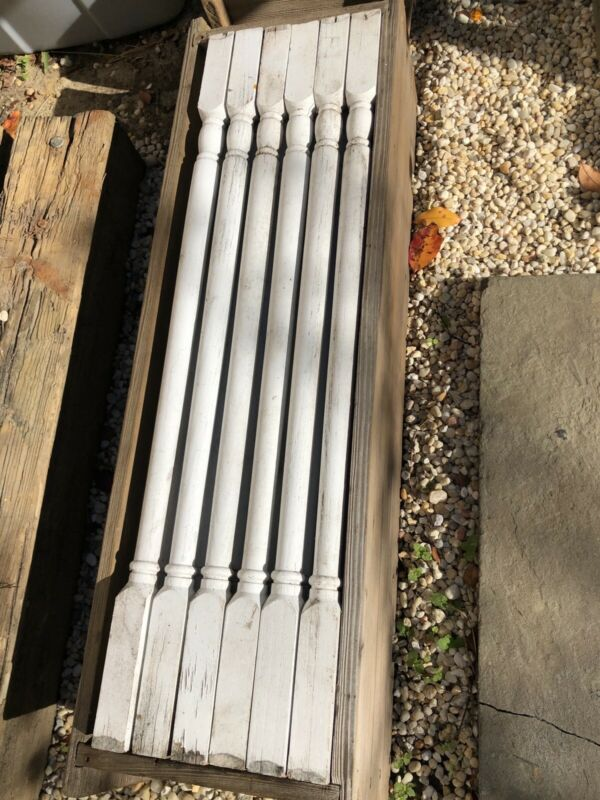 """Lot of 30 antique oak victorian baluster spindles great for rehab 24 3/4"""""""