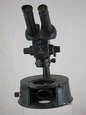 Vtg Soviet Era Lomo Binocular Stereo Microscope Ussr Mbcmbs-1 N747939 Cold War