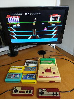 Famicom Console System HVC-001 Nintendo FC Japan 1983 plus 6 Games