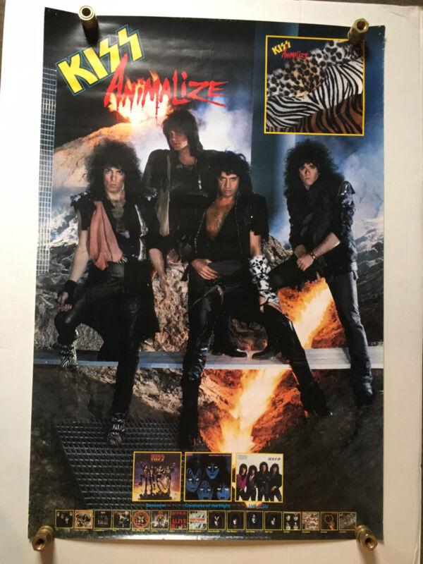 Kiss 1984 Animalize Promo Poster