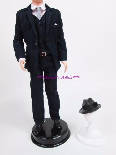 Silkstone Roger Sterling Ken Barbie Doll Suit Fashion Outfit ~ Hat Suit Vest