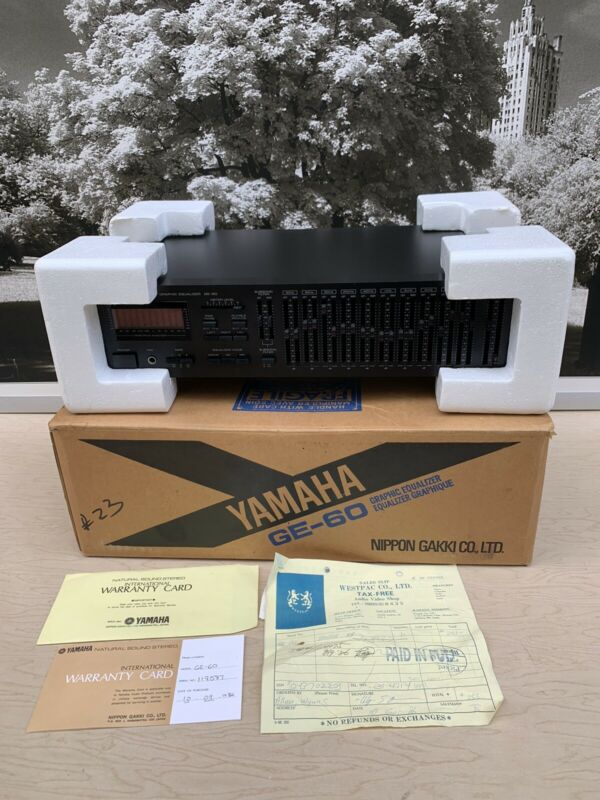 Yamaha GE-60 Natural Sound Stereo Graphic Equalizer  MINT CONDITION!!