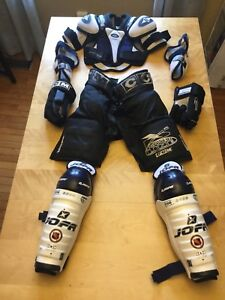 Hockey equipment for a ten year old