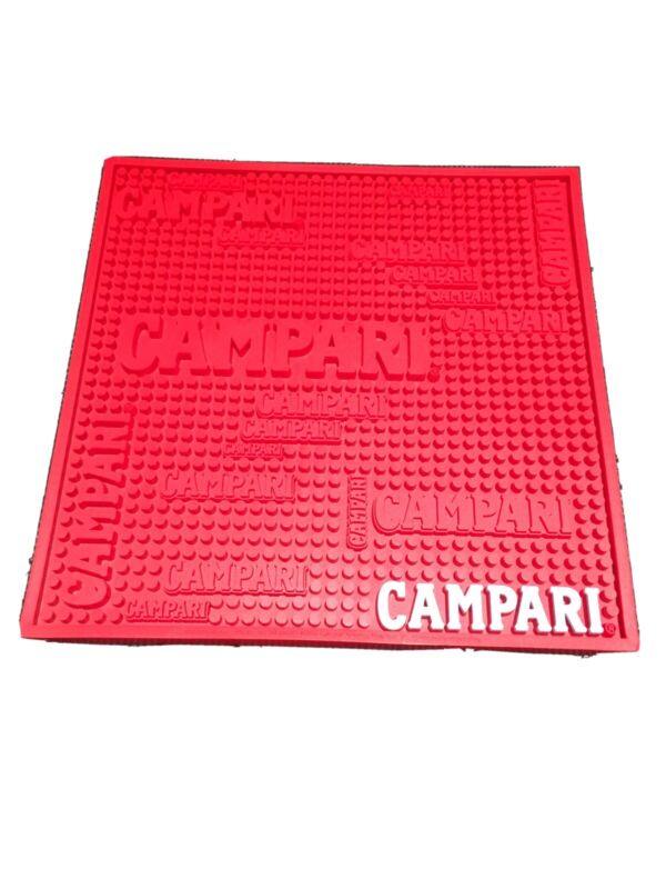 Campari Service Bar Mat  Commercial Grade Rubber 14 Inch By 14 Inch