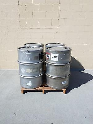 Used Heavy Duty Sanitary 316 Stainless Steel Drums 4 Pack