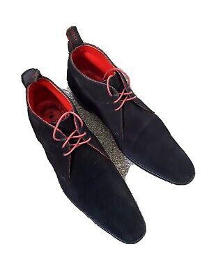 Jeffery West Size 10 Black Suede Libertine Chukka Boot