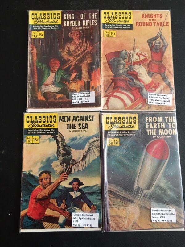Classic Illustrated Comics Lot of 4:  #