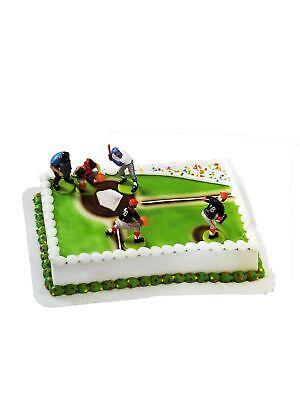 Baseball Players Birthday Party Supplies Cake Topper Deco Set](Baseball Birthday Supplies)