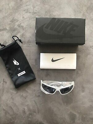 New Never Worn Nike Molten Supreme Sunglasses Frosted White Grey Lens (Supreme Sunglasses)