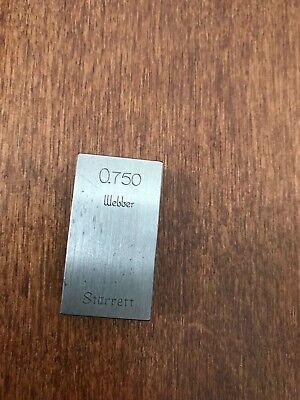 Vintage .750 Starrett Webber Gage Block 34