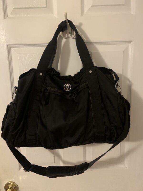 Black IVIVVA Athletica by LULULEMON Ruffle Duffel Dance Travel Gym Bag