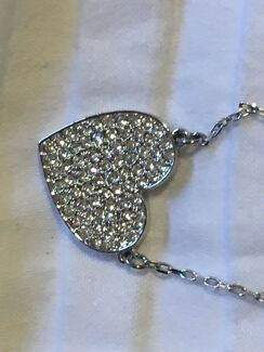 GENUINE SWAROVSKI love heart necklace