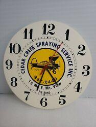 VINTAGE CEDAR CREEK SPRAYING SERVICE INC E MOUNTAIN VIEW  PS 3050 WALL CLOCK