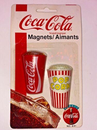 1995 Coca-Cola Soda Cup And Popcorn Magnet