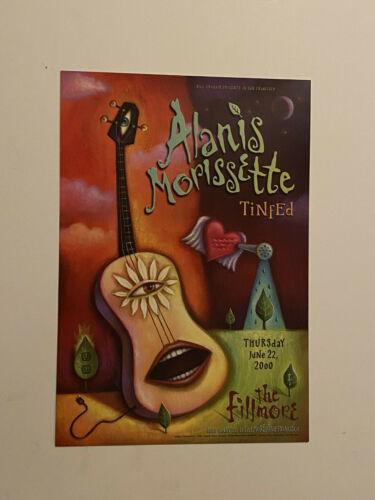 ALANIS MORISSETTE  Poster SF Fillmore 6/22/2000 Tinfed