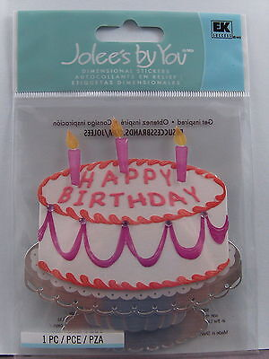 NEW EK SUCCESS JOLEES DIMENSIONAL STICKERS EXTRAVAGANT CAKE JJJA105C 782