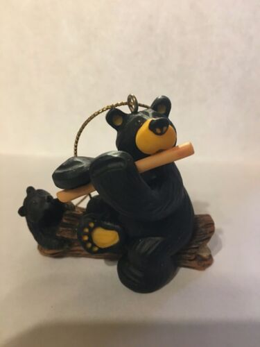 BEARFOOTS BEAR PLAYING FLUTE FOR BABY ORNAMENT