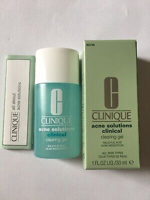 CLINIQUE ACNE SOLUTIONS CLINICAL CLEARING GEL 1 Oz / 30 ml New In Box Full Size
