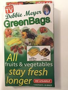 Debbie Meyer GreenBags Reusable Stay Fresh Produce Bags (Pack of 20) UK SELLER