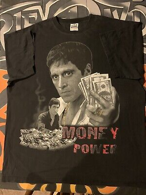 Vintage Scarface Men's 3XL T Shirt Black Graphic Movie Nice Fade *FLAW*