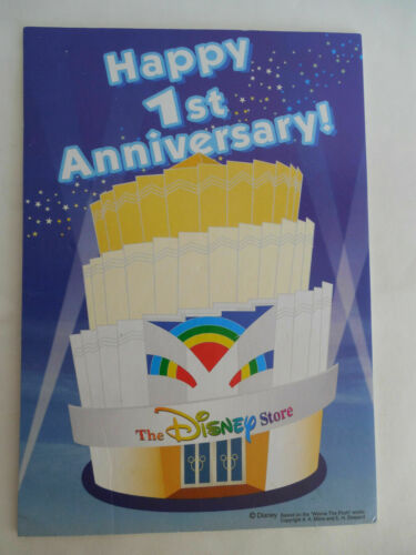 The Disney Store Happy 1st Anniversary Small Sign Display Prop