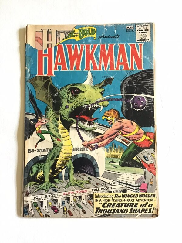 Brave and the Bold 34 - 1st SA App of Hawkman - Key Issue Comic Book - Low Grade