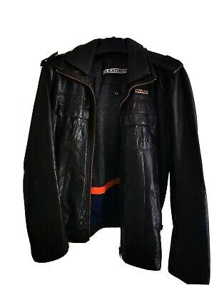 Mens superdry leather jacket xl